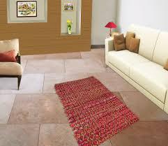 Cotton Weave Rugs Cotton Jute Chindi Rug Woven Striped Recycled Rag Dari Floor
