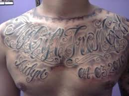 chest chest lettering lettering chest