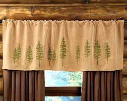 Cheap Valances Bathroom Delectable Rustic Curtains Cabin Window Treatments