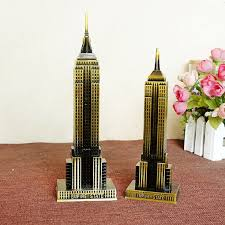 the world landmark metal model of the empire state building