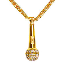 hip hop jewelry necklace images Big men necklace music microphone pendant hip hop jewelry gold jpg