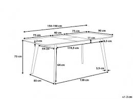 dimension table de cuisine dimension table de cuisine choosewell co destiné taille table