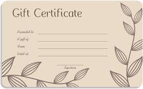 salon gift card beauty salon gift certificate template apa templates