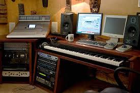 incredible diy home studio and custom built desk recording