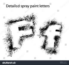 Font Spray Paint - detailed spray paint font ff stock vector 14323957 shutterstock