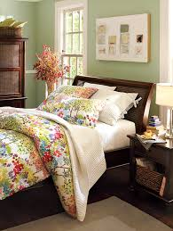 pottery barn bedroom with benjamin moore misted fern by benjamin