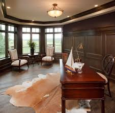 staggering cowhide rug decorating ideas for home office