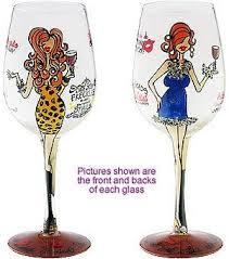 27 best bottoms up wine glasses images on painted