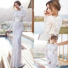 julie vino sheer wedding dresses bateau neck long sleeves floor