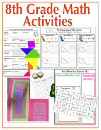 8th grade math bundle 1 activities for interactive notebooks