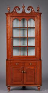 Red Corner Cabinet Farmhouse U2013 Interior U2013 Early American Decor Inside This Vintage