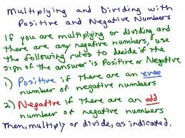 multiplying u0026 dividing positive u0026 negative numbers help video in