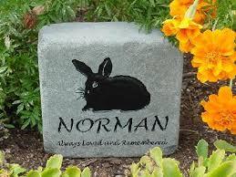 pet memorial engraved rabbit and bunny pet memorial grave markers
