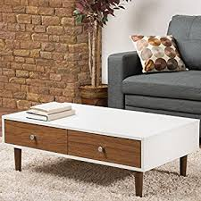 White Modern Coffee Tables by Amazon Com Iohomes Luxer Coffee Table With Drawers Walnut