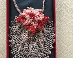 sale new spiral peyote stitch necklace beadwork seed