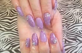 acrylic nails l purple wedding l nail design
