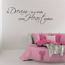 wall decals stickers home decor home furniture diy dream wish heart wall art sticker quote bedroom decal mural stencil transfer