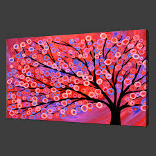 abstract tree painting modern canvas print poster many colours