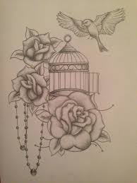 realistic bird tattoos with cage google search my body is a