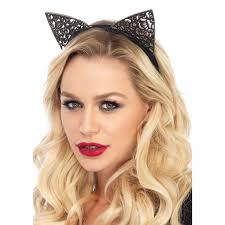 filigree glitter kitty cat ears cosplay halloween costume ears