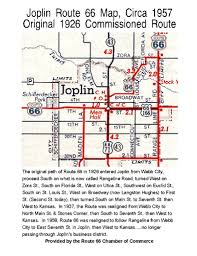 Old Route 66 Map by Joplin On Route 66