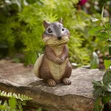 chipmunk with peanut statue outdoor living outdoor decor