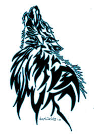 howling wolf and tribal on shoulder in 2017 photo
