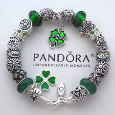 european bead bracelet charms images Authentic pandora bracelet w green irish blessings 4 leaf jpg