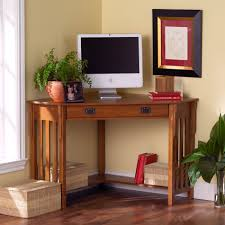 desk ideas pictures comes with corner shape design and teak wood