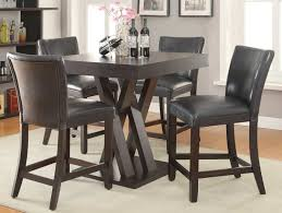 coaster 100523 counter height dining set cappuccino 100523 bar