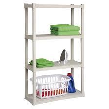 Target Plastic Shelves by Sterilite 4 Shelf Storage Unit Gray Target