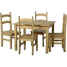 Small Dining Table Set Wooden  Chairs Kitchen Diner Antique Pine - Pine kitchen tables and chairs