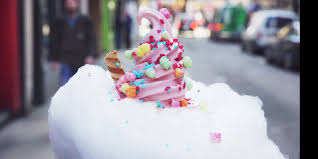 cotton candy ice cream cones cloud cones