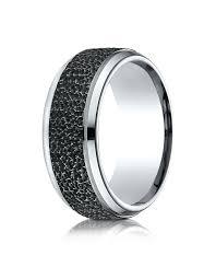 hammered wedding band cobalt black micro hammered wedding band for men wedding