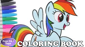 mlp rainbow dash coloring book my little pony dashie coloring page