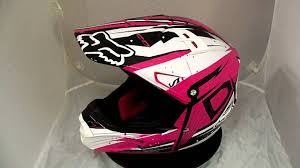 pink motocross helmets fox v1 helmet undertow pink from magic racing youtube