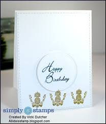 how to make a happy birthday card by vicki simply stamps university