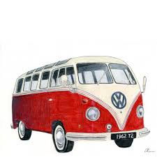 volkswagen old red all sizes volkswagen camper drawing flickr photo sharing