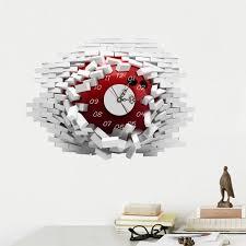 Office Wall Clocks Aliexpress Com Buy 3d Wall Clocks Room Decal Wall Stickers Mute