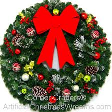 large wreaths by artificial wreaths