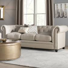 Sofa Chesterfield Willa Arlo Interiors Dalila Upholstered Chesterfield Sofa
