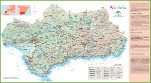 Cordoba Spain Map by Andalusia Road Map
