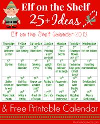 25 elf on the shelf ideas with printable calendar an