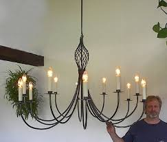 Forged Chandeliers Ace Wrought Iron Large Custom Theatre Chandelier Forged By