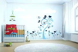 tapisserie chambre bébé garçon idee papier peint chambre bebe 4 murs peinture nouveautacs 2017