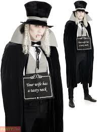 mens victorian silent film vampire costume dracula halloween fancy
