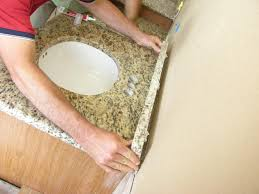 how to install a bathroom countertop how tos diy press backsplash into place