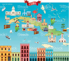 Map Cuba Cartoon Map Of Cuba Stock Vector Art 639507232 Istock