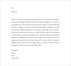 thank you letter format appreciation letter
