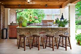 Covered Backyard Patio Ideas Outdoor Patio Bar Ideas Patio Tropical With Beige Outdoor Cushions